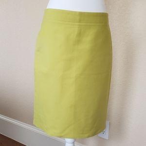 J.Crew No.2 Pencil Skirt  Double Serge Cotton 6
